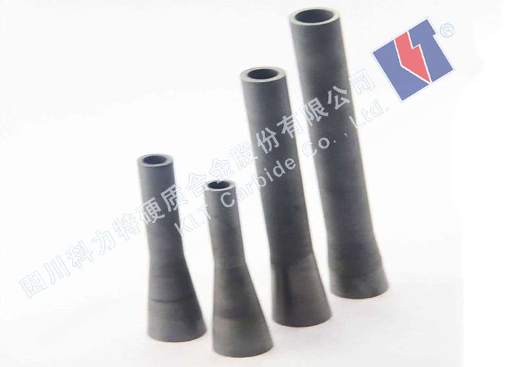 High Rigidity Tungsten Carbide Nozzle For Dry / Wet Blasting Long Usage Lifetime